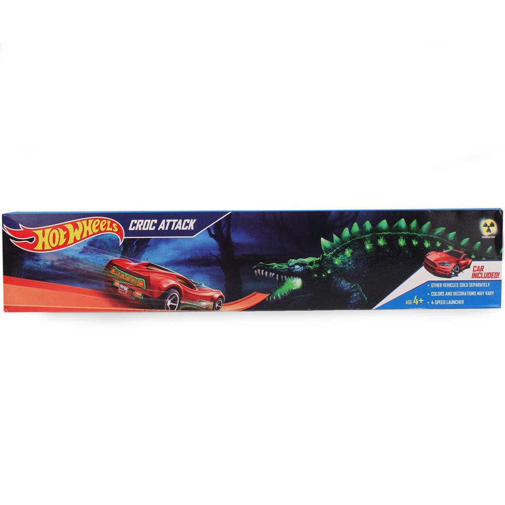 Hot Wheels Croc Attack Playset, Multi Color