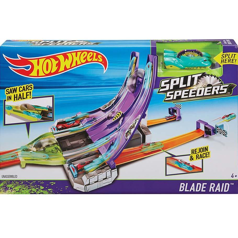 Hot Wheels Split Speeders Blade Raid Action Track Set, Multi Color