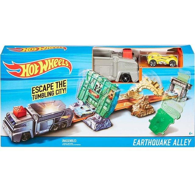 Hot Wheels Earthquake Alley Playset, Multi Color