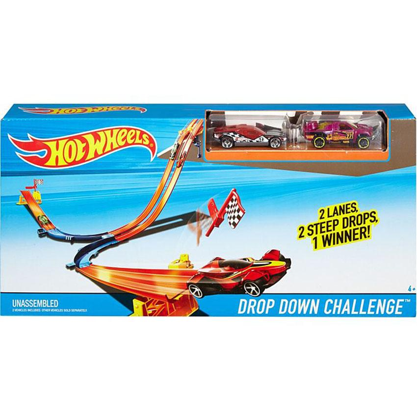 Hot Wheels Drop Down Challenge Playset, Multi Color