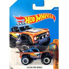 Hot Wheels Clip Strip Cars, Custom Ford Bronco Multi Color
