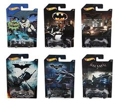 Hot Wheels DFK69 Batman Complete Set of 6 Diecast Cars