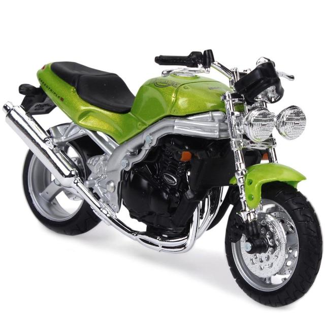 Maisto Triumph Speed Triple Motorcycle, 1:18 Scale Die Cast Metal