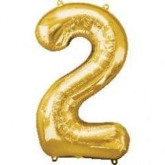 Planet Jashn Number 2 Foil Balloon , Golden Color