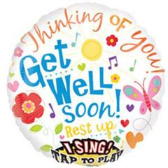 Planet Jashn Lean On Me Get Well Jumbo Sing -A-Tune Foil Balloon , Multi Color