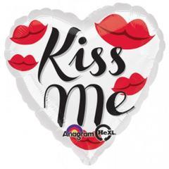 Planet Jashn Kiss Me Lips 18 Inch Foil Balloon, Multi Color