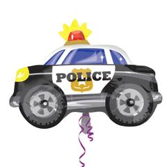 Planet Jashn Police Car Standard Foil Balloon, Multi Color