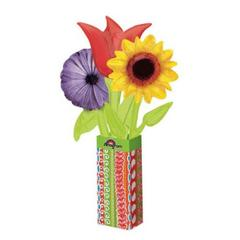 Planet Jashn Wild Flower Bouquet 11 Inch Foil Balloon, Multi Color
