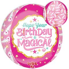 Planet Jashn Magical Birthday Orbz 3-D Shapes Foil Balloon, Multi Colors
