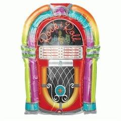 Planet Jashn Super Shape Rock-N-Roll Juke Box Foil Balloon, Multi Color