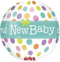 Planet Jashn New Baby Orbz Foil Balloon, Multi Color