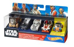 Hot Wheels Star Wars Heroes Of The Resistance, 5 Car assorted Set Multi Color