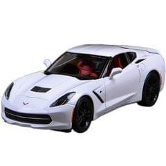 Maisto 2015 Corvette Stiingray Coupe White, 1:24 Scale Die Cast Metal Car