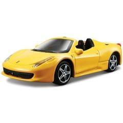 Bburago Ferrari 458 Spider Yellow Color, 1:43 Scale Die Cast Metal Collectable Model