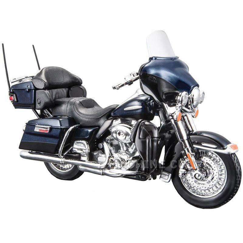 Maisto Harley Davidson 2013 FLHTK Electra Glide Ultra Limited Black Color, 1:18 Scale Diecast Motorcycle