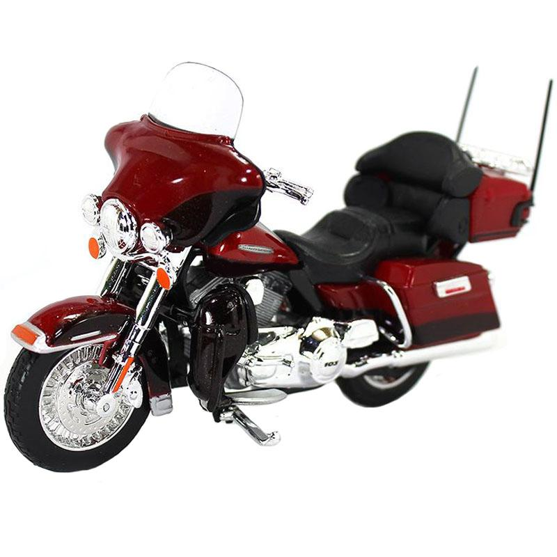 Maisto Harley Davidson 2013 FLHTK Electra Glide Ultra Limited Red Color, 1:18 Scale Diecast Motorcycle