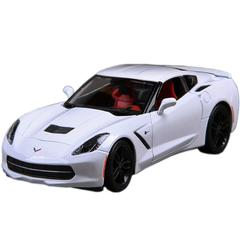 Maisto 2014 Corvette Stiingray White, 1:24 Scale Die Cast Metal Car