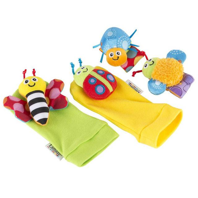 Lamaze Foot Finder and Wrist Rattle Set, Gardenbug