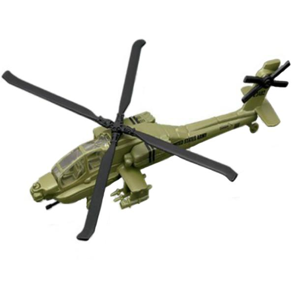 Maisto Tailwinds Ah-64 Apache Helicopter Die Cast Model Green Color