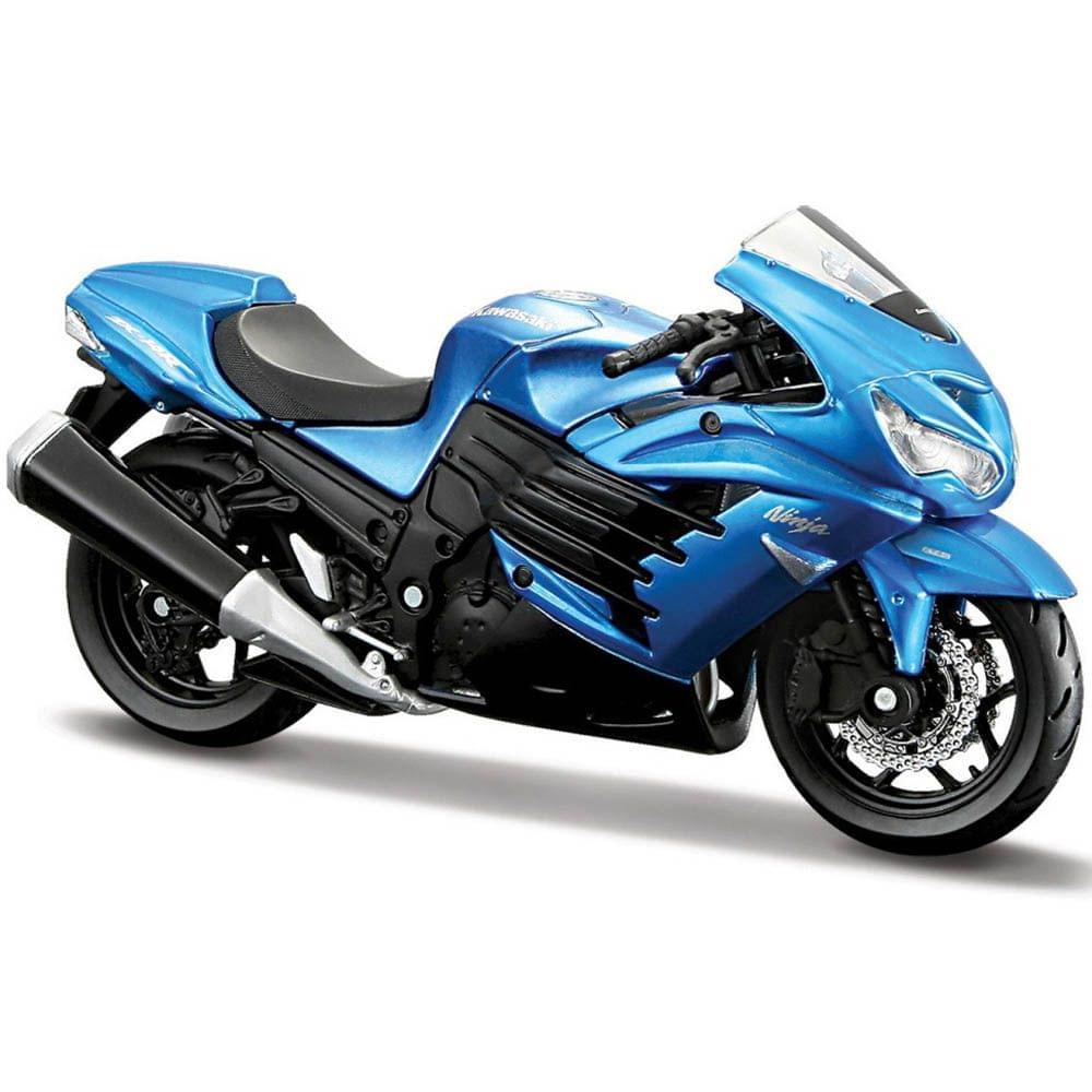 Maisto Fresh Metal 2 Wheelers Kawasaki Ninja ZX-14R Motorcycle, 1:18 Scale Die Cast Metal