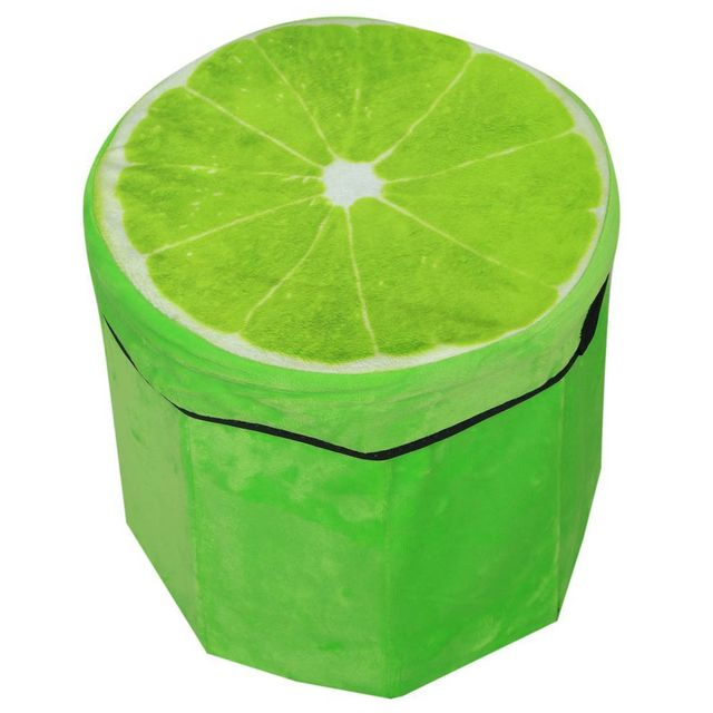 Dimpy Stuff Foldable Kids Stool with Soft Seat - Lemon Theme