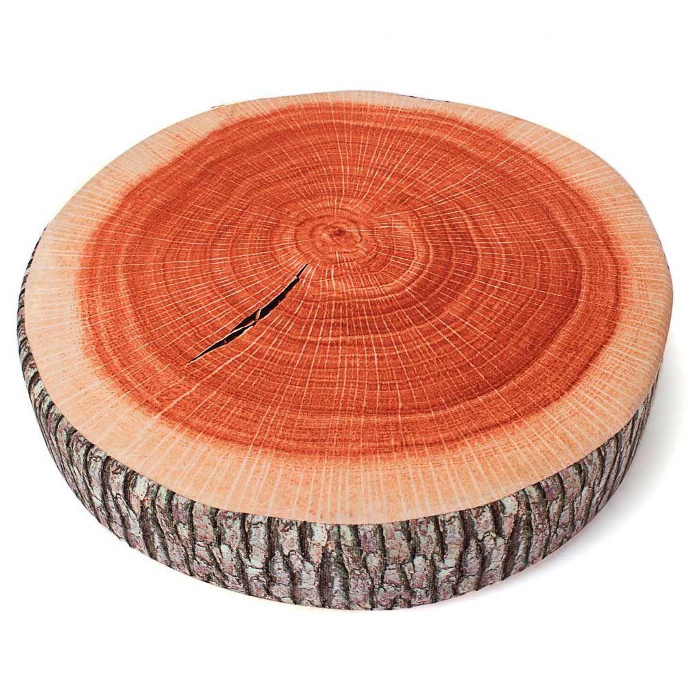 Dimpy Stuff Wood Log Cushion Stuff Toy Brown Color Theme