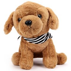 Dimpy Stuff Premium Dog with Muffler Stuff Toy Brown Color