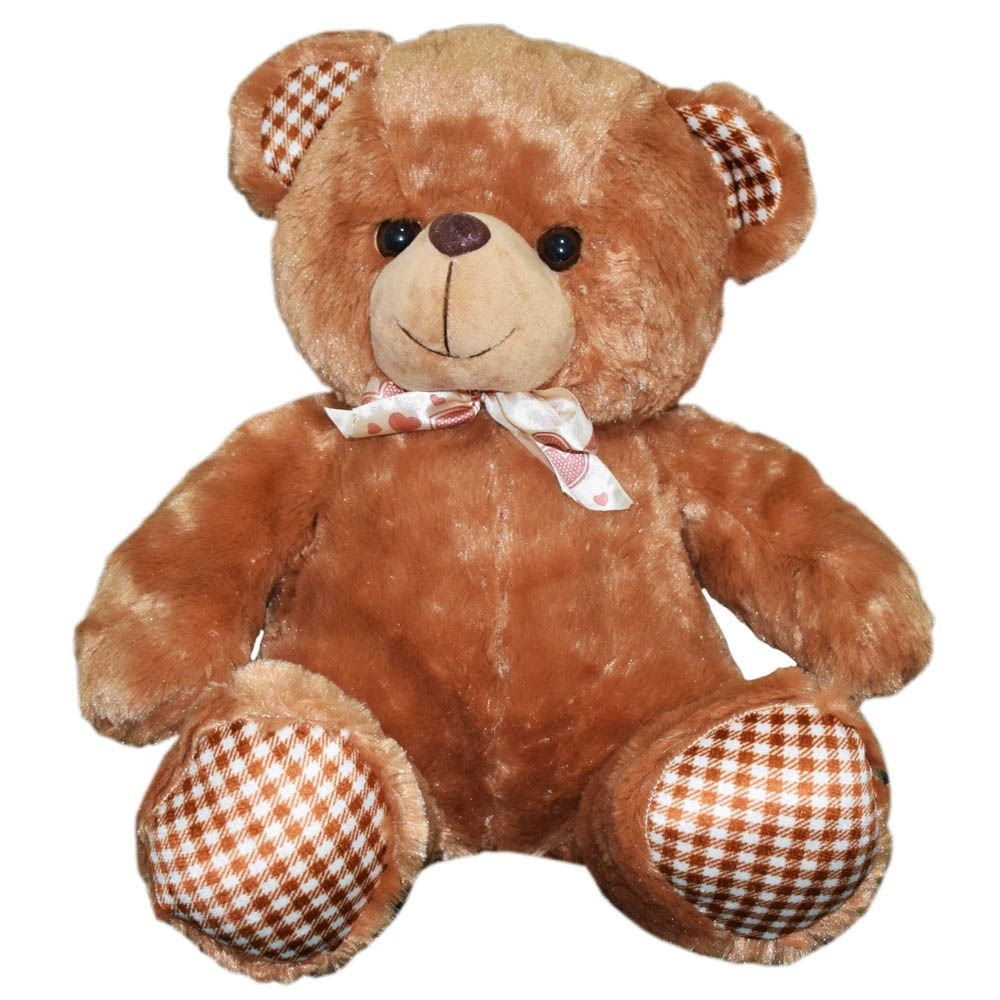 Dimpy Stuff Bear with Flower Paws Stuff Toy Brown Color