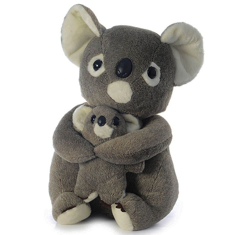 Dimpy Stuff Koala With Baby Stuff Toy Multi Color
