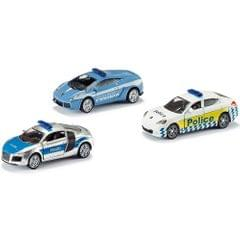 Siku Gift Set Police Set of 3 Die Cast Cars No 6302 Multi Color