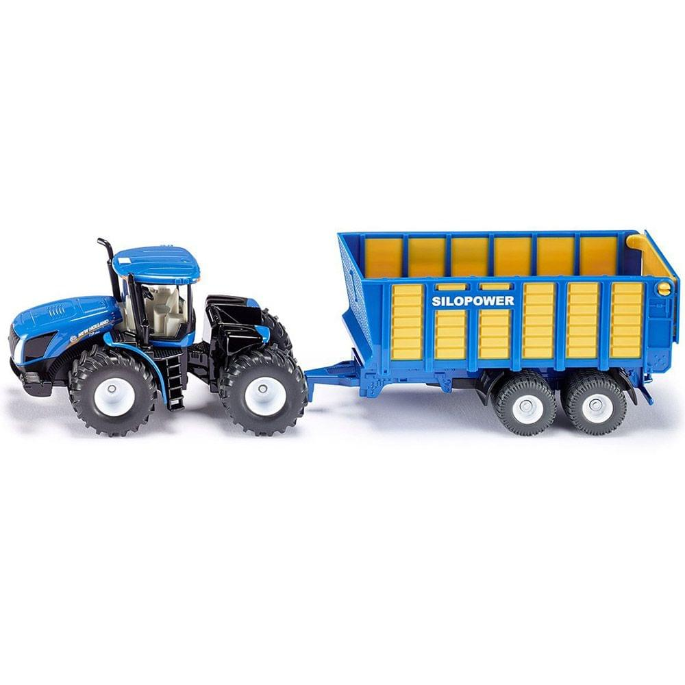 Siku Tractor Silage Trailer Die Cast No 1947 Multi Color