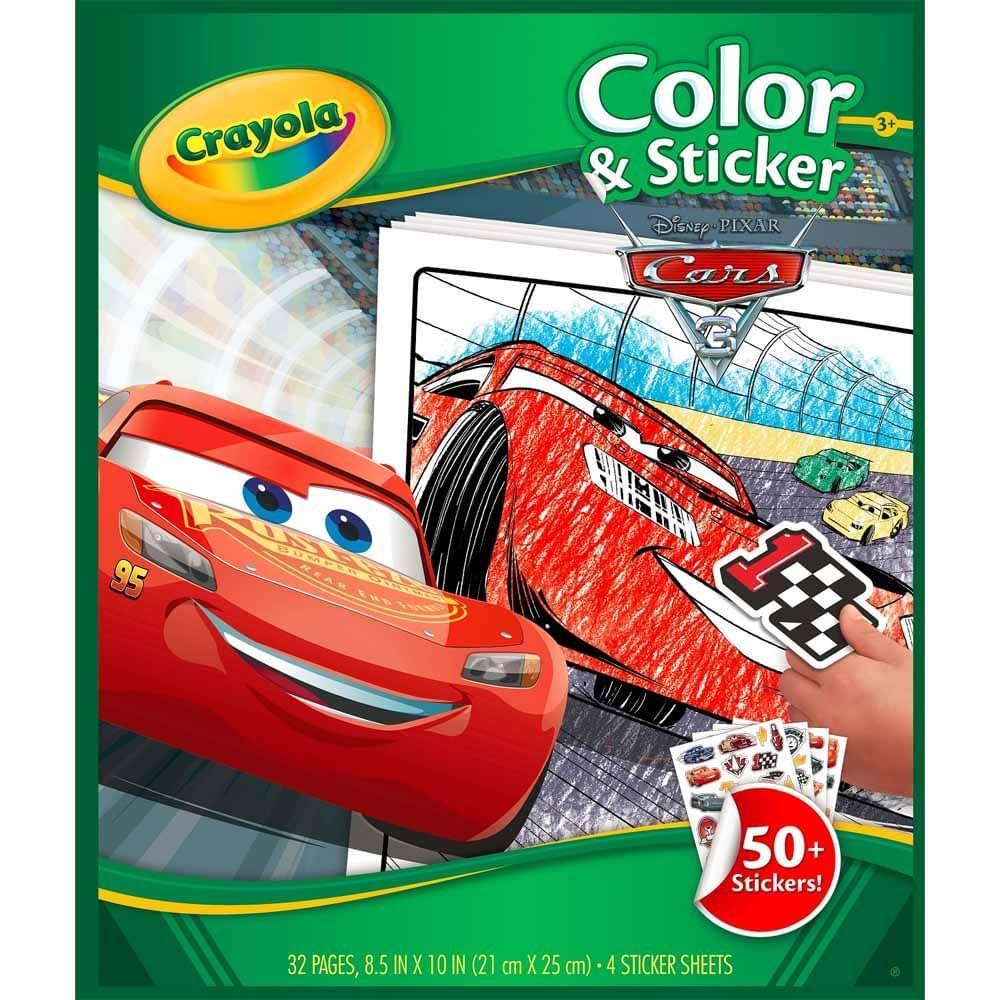 Crayola Disney Pixar Cars 3 Color & Sticker Book