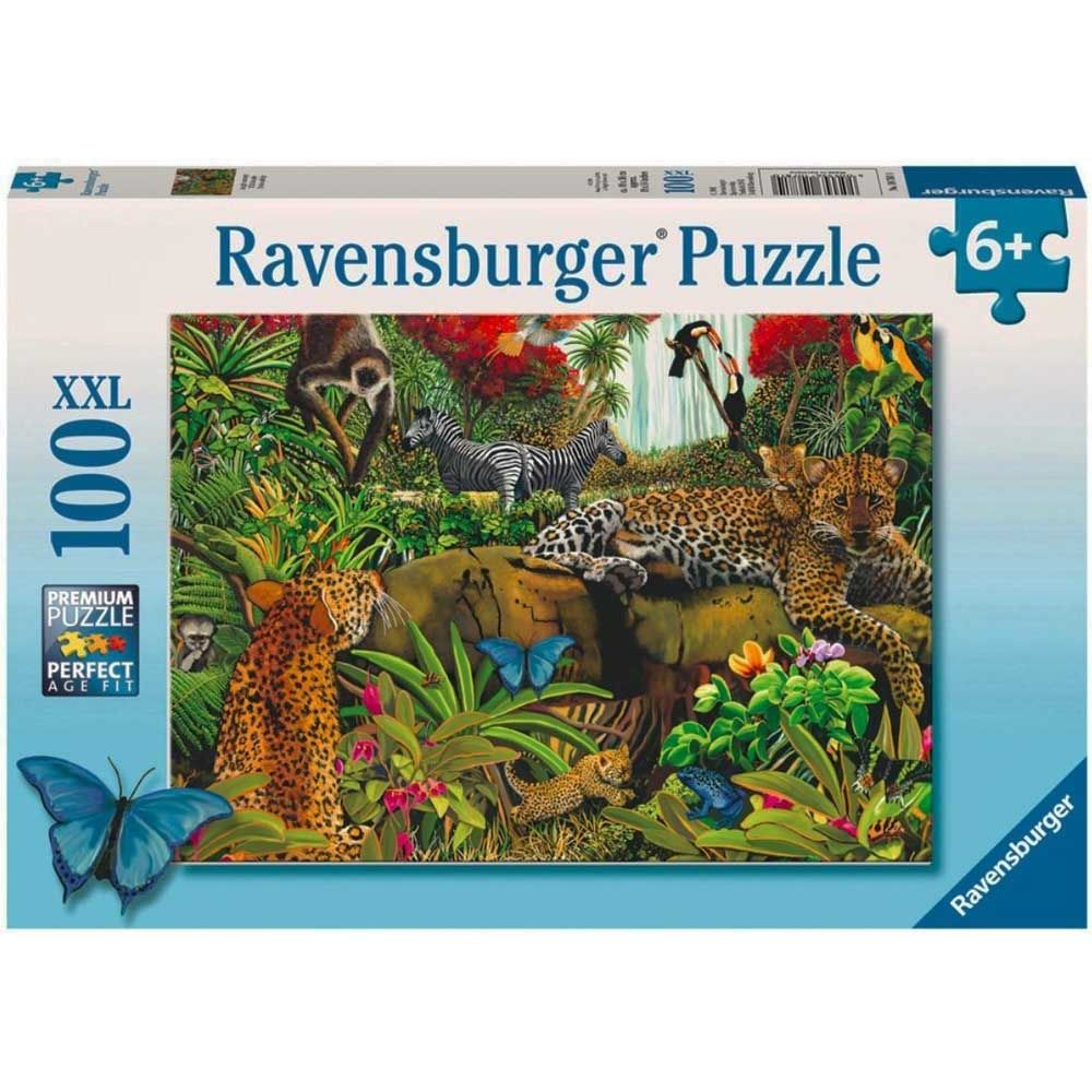 Ravensburger Puzzle Wild Jungle 100 pieces Multi Color