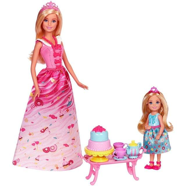 Barbie Dreamtopia Princess Tea Party Doll Set Multi Color