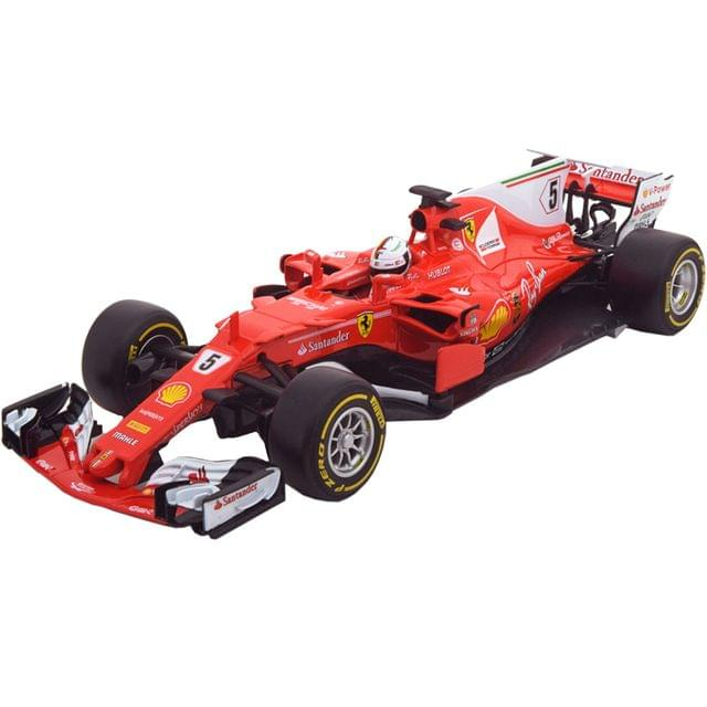 Burago Ferrari Racing SF70-H, 1:18 Scale Die Cast Metal Collectable Model Car
