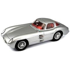 Maisto Mercedes Benz 300 SLR Uhlenhaut Coupe Silver, 1:18 Scale Die Cast Metal Collectable Model Car