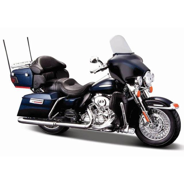 Maisto Harley Davidson 2013 FLHTK Electra Glide Ultra Limited Black Color, 1:12 Scale Diecast Motorcycle