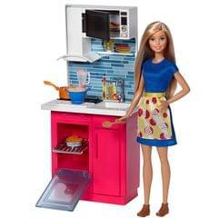 Barbie Kitchen Furniture Doll Set Multi Color