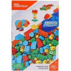 Mega Construx Vibrant Box of Blocks 240 Pieces Multi Color