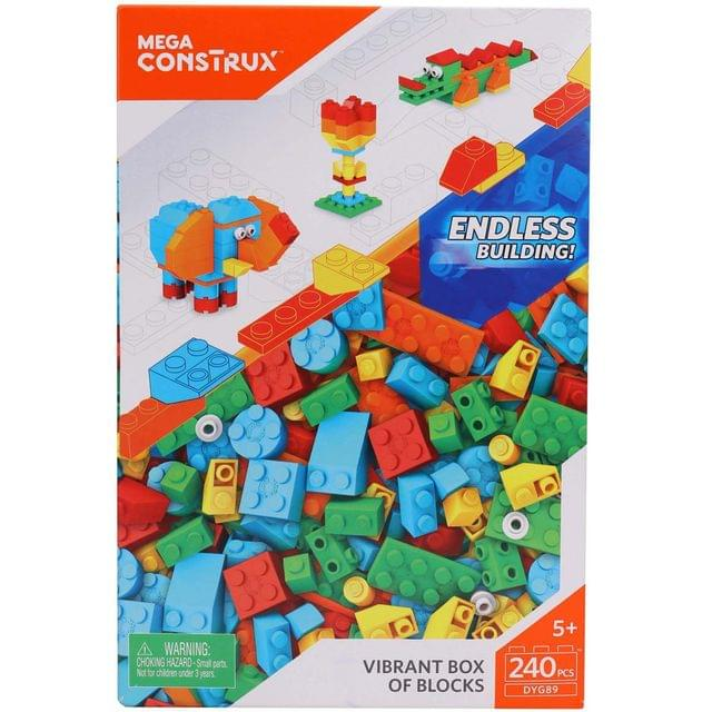 Mega Construx Vibrant Box of Blocks 240 Pieces Multi Color