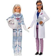 Barbie Astronaut and Space Scientist Doll Set Multi Color