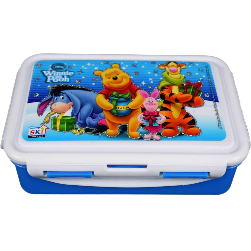 Ski Homeware Disney Cartoon branded Lunch Tiffin Box 3 piece Set For Kids Multi Color Assorted Characters