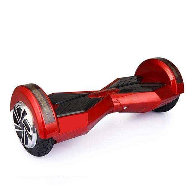 Uboard Hybrid 6.5 Inch Electric Hover Board With LED Light And Bluetooth Speaker, Red and Black Color