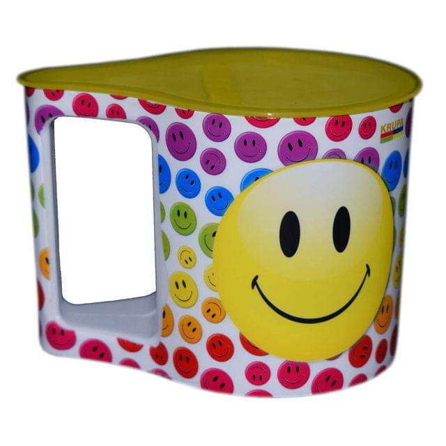 Myesha Home Whats Up Mug with Spoon and Lid Multi Color