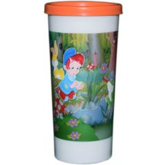 Myesha Home Plastic Tumbler Glass with Cap Multi Color