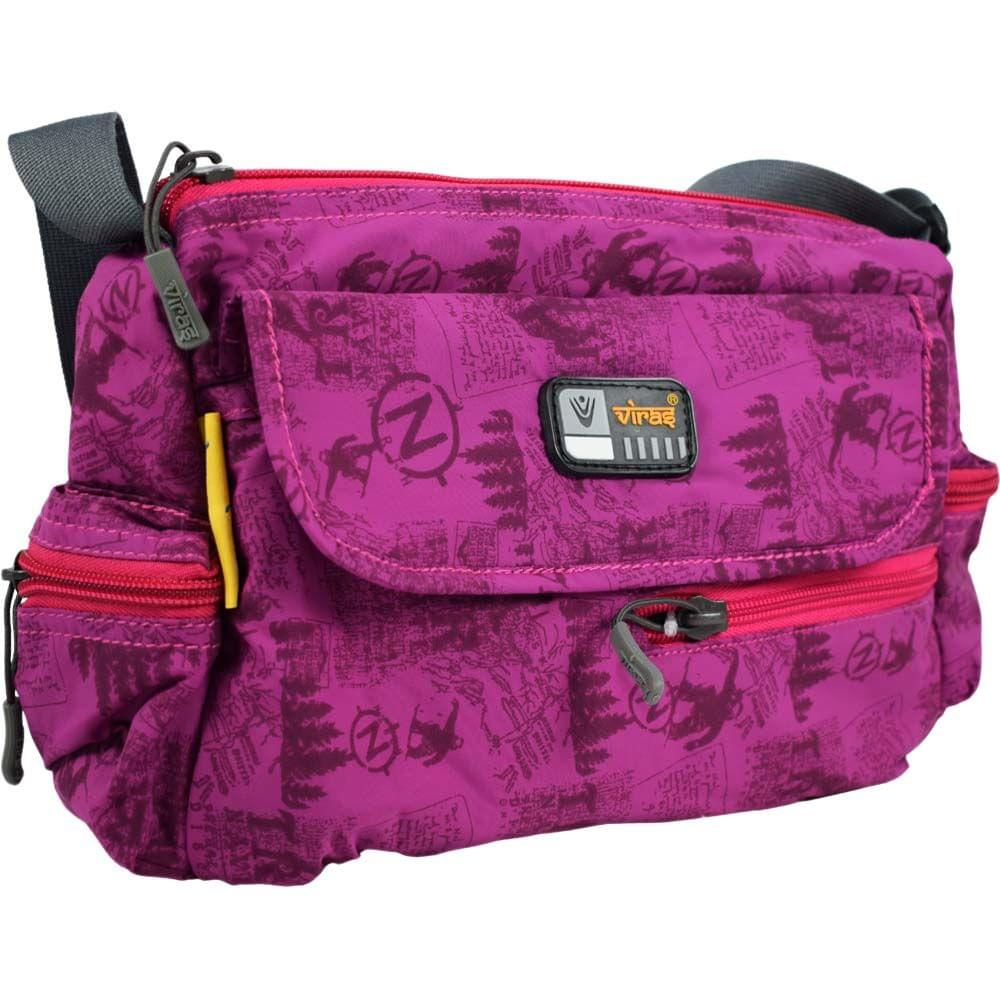 Viraz Teflon Coated Waterproof Sling Bag, Dark Pink