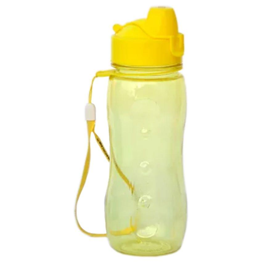 Varmora Sporty Flip Top 500 ml Bottle, Yellow Color