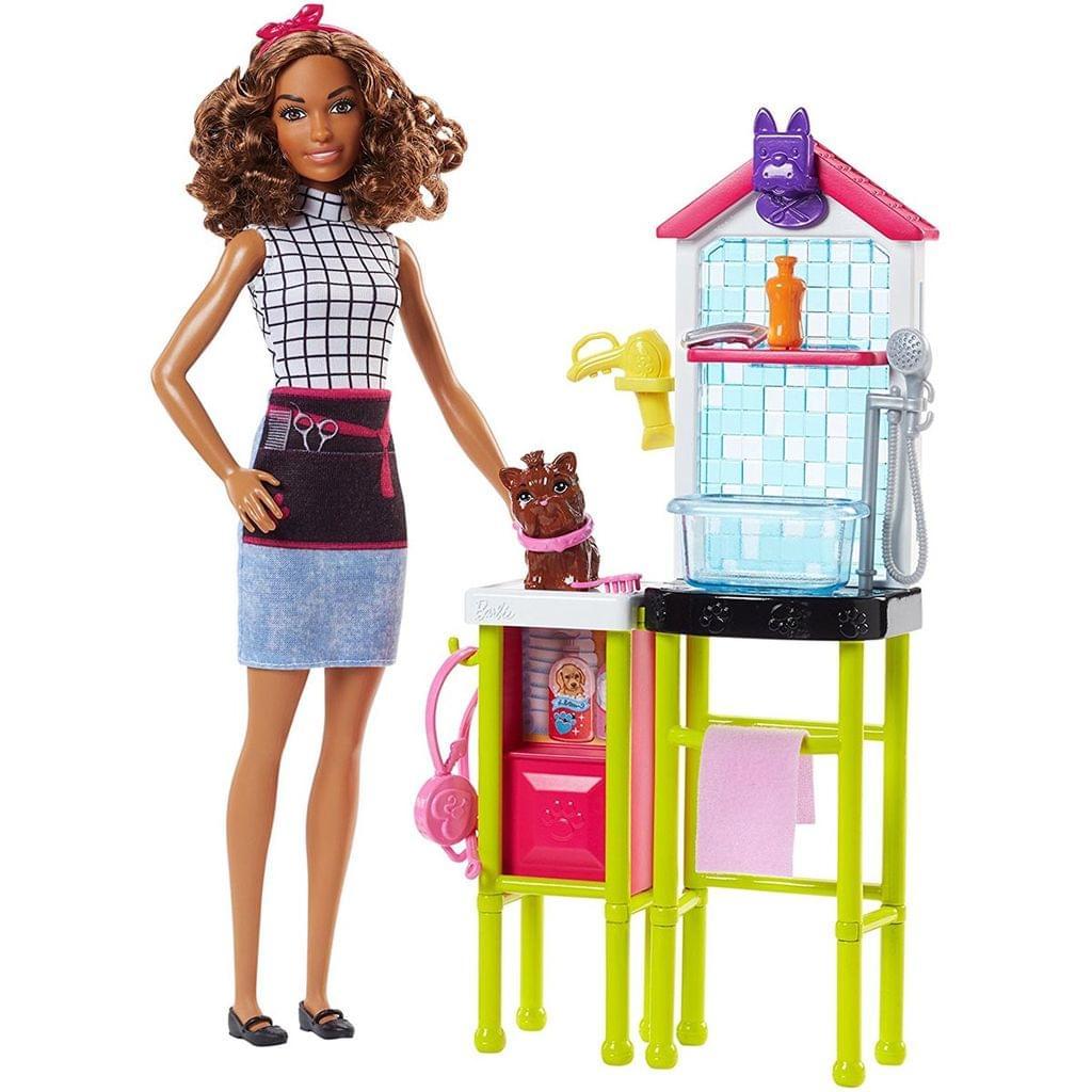 Barbie Career Pet Groomer Playset, Multi Color