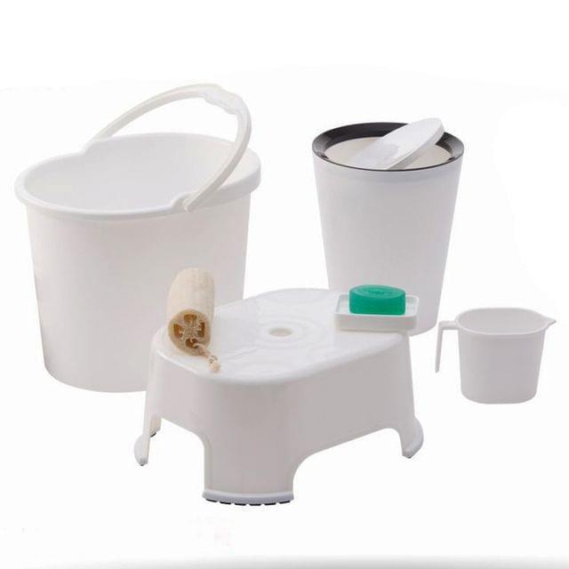 Varmora Ultramorden design Bathroom Accessories 5 Pcs Set, Multi Zcolor
