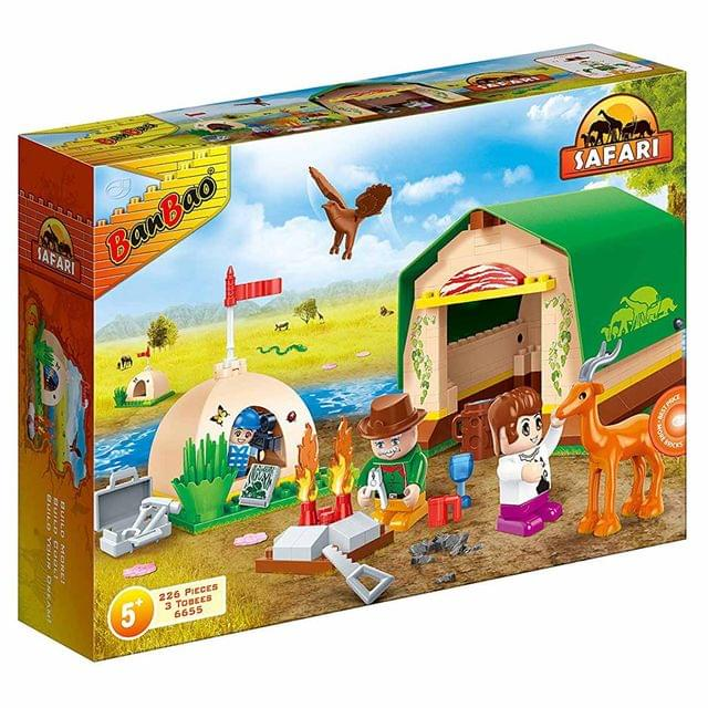 Banbao Building Blocks Safari Tented Camp, Multi Color